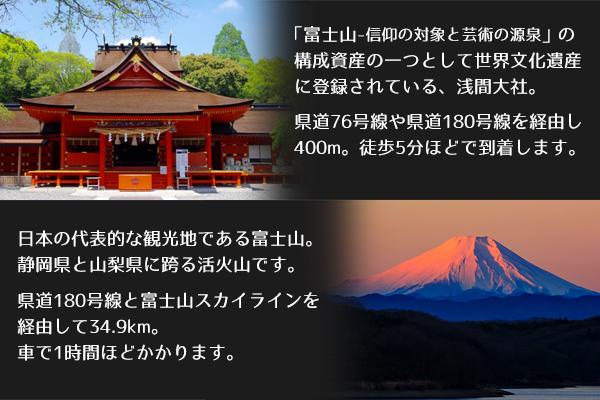 浅間大社と富士山